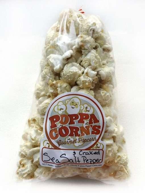 sea salt and cracked pepper popcorn